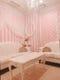 ピンクのストライプが可愛い ラブリーなお部屋