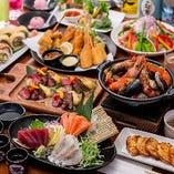 春の歓送迎会プランです!!! 肉に魚に野菜に団欒ならではのお料理を楽しんで下さい。