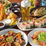 秋の宴会プランです!!! 肉に魚に野菜に団欒ならではのお料理を楽しんで下さい。