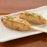 軍鶏つくね串明太マヨソース