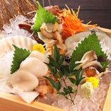 増毛産を始め、当店では北海道産の食材を多数使用しています。