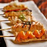 【逸品料理】 串焼きやつくねなど自慢の鶏料理をご賞味あれ♪