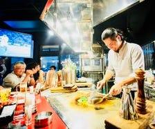 ◆目の前で楽しむ鉄板調理