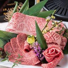 神戸牛焼きしゃぶ食べ放題も大人気!