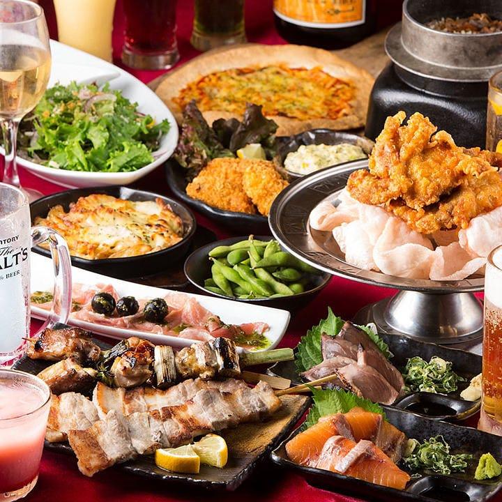 食べ放題飲み放題コース<214品>3,080円/金土 3,630円(税込)