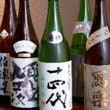 ワインやサワーの他にも、日本酒や焼酎も種類豊富にあります!