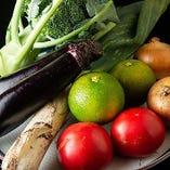 地場野菜にも季節の恵みがたっぷり