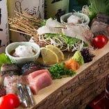 【長浜市場直送】 毎朝仕入れる旬の鮮魚の刺盛りは見逃せない!