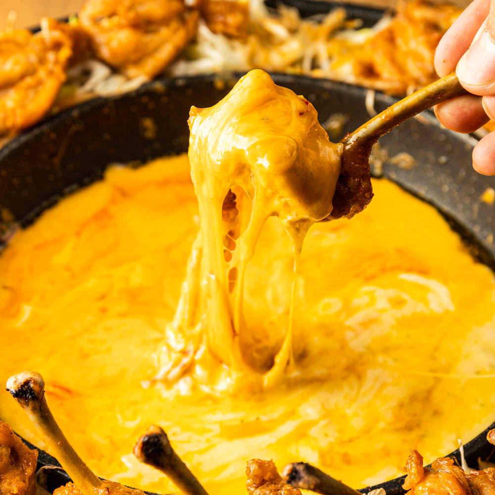 ■OPEN記念■チーズ&お肉の専門店のあったかチーズ鍋SNSで大人気♪/肉寿司付き 3980→2980円飲み放題付き