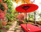【日本庭園】全ての席から庭園が眺められます・記念撮影スポット