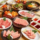 焼肉宴会コースは定番から希少部位までバラエティ豊かに味わえる