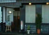 当店の正面玄関。昔は花街として栄えた「田辺新地」にあります。