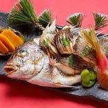 【新メニュー】[割烹金剛]祝い鯛姿焼き