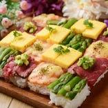 名古屋初上陸!肉万華鏡寿司は見た目にも華やかな逸品