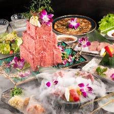 【サプライズ×驚きの誕生日】和牛A5ランクのサプライズ肉ケーキコース 7,000円⇒5,000円 (税抜)
