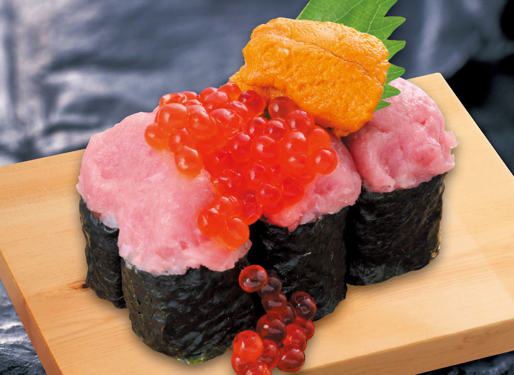 3色のっけ寿司