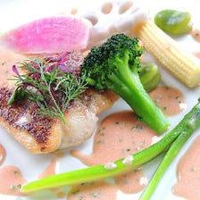シェフ特製のお魚料理