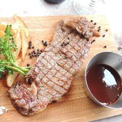 国産牛サーロインのステークフリット