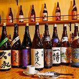 魚丸選りすぐりの日本酒を常時15種類以上取り揃えております。