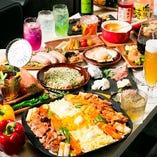贅沢な食材をふんだんに使った自慢の鉄板焼き&逸品料理をごゆっくりご堪能ください