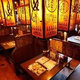 【BOX席】2名様~最大70名様迄…友人との食事・飲み会や、大人数での打ち上げ等に!