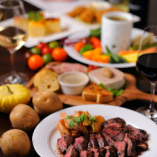 野菜と季節の料理食材をふんだんに使ったコースは3,800円からご用意