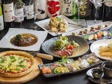 豊富なワインと日本酒