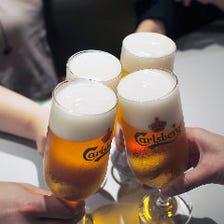 屋内ビアガーデン!生ビール付2h飲放付コース