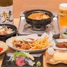 【3時間飲み放題付き】たら福 鍋コース 4,980円(税込)