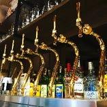 生ビール!6種類!樽ごとに代るので来るたびに違う生を飲めますよ☆