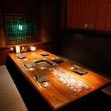 人数に合わせた個室、半個室をご用意しております。