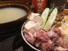 元祖かず炊き(鶏塩水炊き)+飲み放題   〆は岡山鴨方手延べうどん