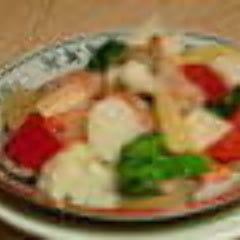 小海老と野菜の塩味炒め