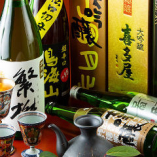 地元福岡や九州各地の日本酒・焼酎を多彩にご用意しております