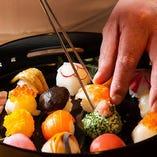 福岡でも屈指の老舗料亭として、日々研鑽に励む料理人の技を堪能