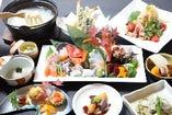 コースは4,000円より!料理長お任せ季節のコースは5,000円。