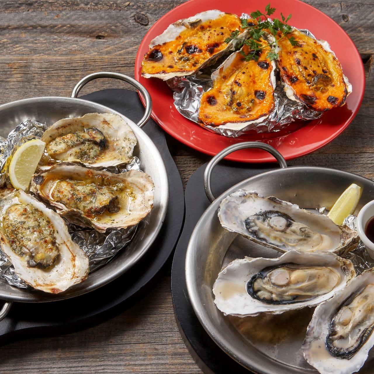 3種類の食べ方で楽しむ牡蠣メニュー