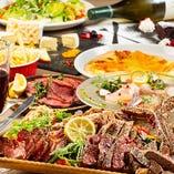 色鮮やかな肉バル料理がテーブルを華やかに囲みます!