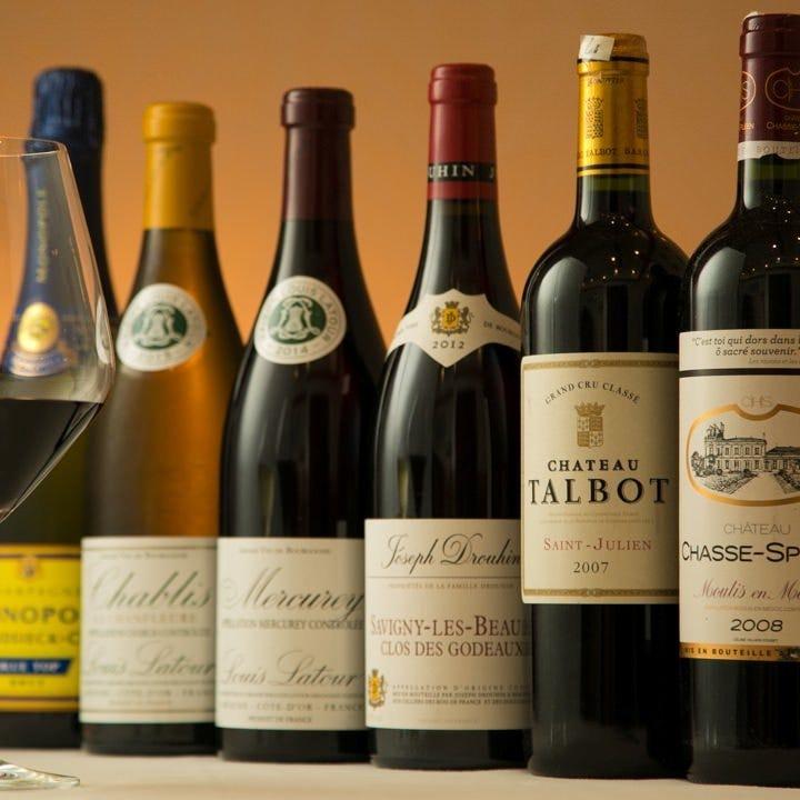 フランス産のワインを数多く取り揃えております。