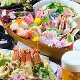 【宴会コース】 会社宴会等は飲み放題付きコースで♪4000円~