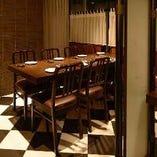 【4~6名様/半個室テーブル席】女子会にも使えるお洒落な半個室