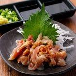 新メニュー!鮮度ピカイチの宮崎県産鶏のたたき。