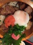 博多明太と豚角煮丼