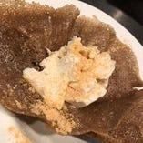 蕎麦粉のガレットときな粉のティラミス