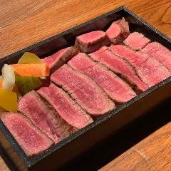 オーダーを受けてから炭火焼き 国産牛のステーキ