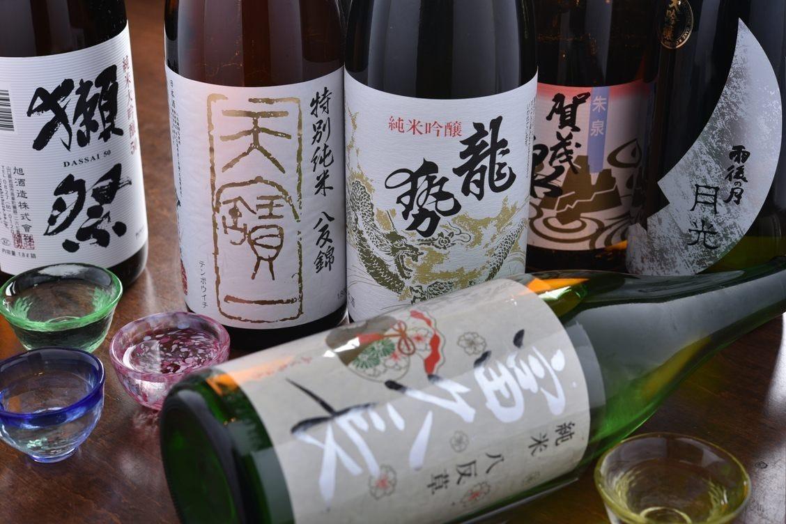 広島の地酒20種以上ご用意してます!!