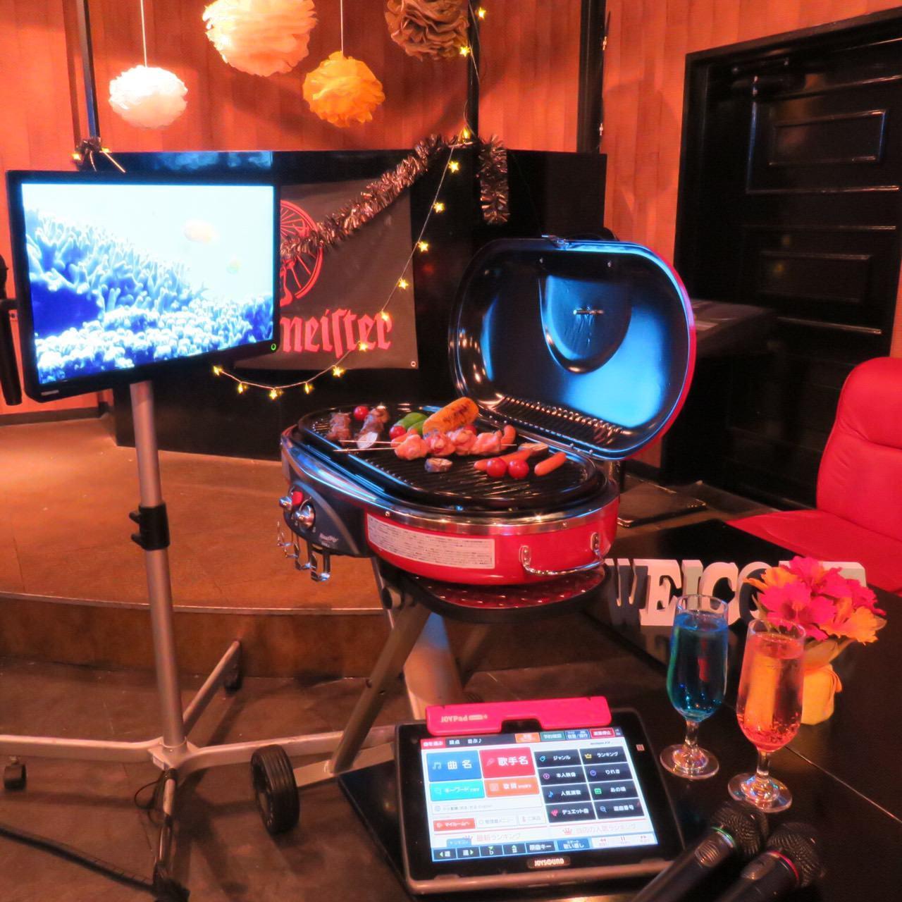 【雨でも安心!!屋内BBQ】BBQ&カラオケプラン♪-《大盛況御礼》自由に楽しめる個室パーティスペース-