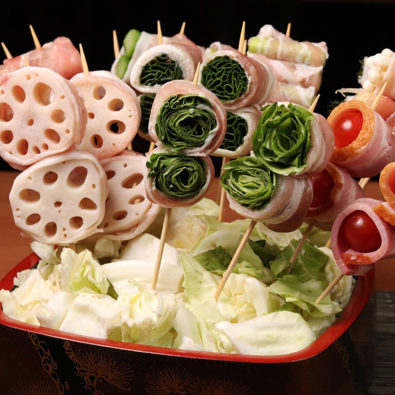 【実りコース】秋刀魚の蒲焼ご飯・野菜巻き串・焼鳥・カルパッチョ 全7品+2時間飲み放題付4,000⇒3,000円