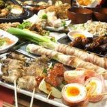 ご宴会や接待,会食におすすめの全10品3h飲放題付コース4480円。