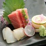 新鮮旬魚のお造り